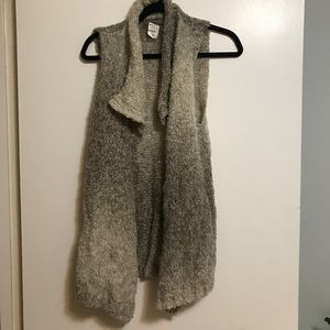 Tan Anthropologie Vest Wool
